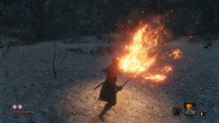 【SEKIRO】『火吹き筒』に『飛び猿の忍び斧』で忍義手をカスタマイズ! 入手。僕にもできたよ!メラと唐竹割り!の巻。