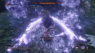 【SEKIRO】『ファンネル×メガ粒子砲』(七面武者)vs『ビームサーベル×ビーム&シールド』(御座狼)…新番組『G-SEKIRO』、ご期待ください。の巻。