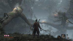 【SEKIRO】隠し森は五里霧中。 霧ごもりの貴人はものすごく強大で第二第三変形するかもしれないので気をつけて!の巻。